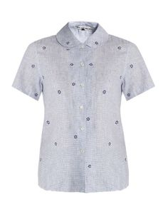 Brig flower-embroidered linen shirt | Jupe by Jackie | MATCHESFASHION.COM