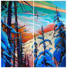 Stephanie Gauvin is a contemporary landscape painter, a Signature member of the Federation of Canadian Artists out of British Columbia. Contemporary Landscape, Canadian Artists, British Columbia, Envy, Powder, Painting, Face Powder, Painting Art, Paintings