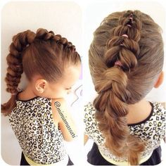 Pull through braid into a ponytail