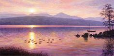 Sunset over Coiston Water, Keith Melling