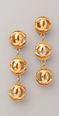WGACA Vintage Vintage Chanel CC Ball Earrings