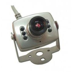 Mini Camara Sony a color con audio  Camara de Seguridad Espia con 6 infrarojos y cable de audio, esta cámara de alta calidad produce una imagen clara con una  alta resolución de color.