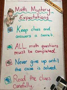 Using math mysteries can be fun, but it is important to set some rules and boundaries to make the activity run smoothly in your classroom. Check out these expectation recommendations, plus grab three free math mystery expectation posters. 21st Century Schools, Teaching Special Education, Teaching Resources, Classroom Expectations, Math Anchor Charts, Elementary Math, Upper Elementary, Math Questions, Math Classroom