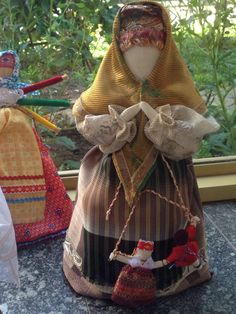 the mother. Russian cloth traditional doll.