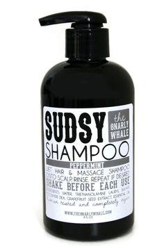 Peppermint Vegan Shampoo - 8oz - Eco-Friendly Hair Care #veganhaircare #peppermintsoap