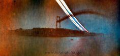 Puente colgante de Vizcaya | Solarigrafia del puente colgante de Vizcaya. Diego López Calvín ©. Tiempo de exposición: 21/05 a 25/07/2007. Cámara estenopeica de proyección cilíndrica. Eje orientado al oeste. Bilbao. https://flic.kr/p/ETMo1V |   Vídeo con la acción en Getxo aquí: youtu.be/r4YnYjrcypM  solarigrafia.com  #solarigrafia #solarigraphy #solargraphy #solarograph #pinholephotography #lensless #estenopeica #sol #sun #puentedevizcaya #getxo #portugalete #puente #bridge…