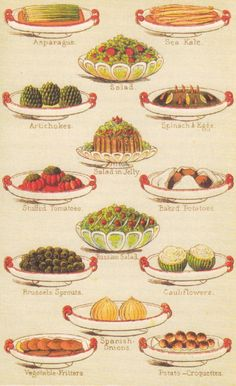 Mrs Beeton's Book of Household Management, 1861 - Side dishes