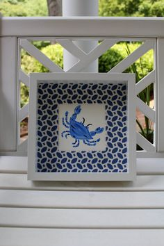 Blue Crab Mini Beach Art