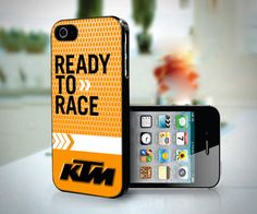New KTM Logo Ready To Race Custom Case For iPhone 5/5s/6/6s/7/7Plus