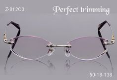 adc1eb63f968 Faceted   jeweled rimless eyeglasses
