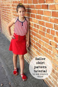 A Sailor Skirt Pattern Making Tutorial
