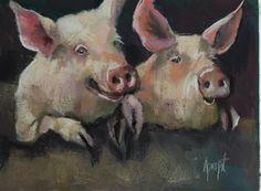 "Daily Paintworks - ""Best Friends"" - Original Fine Art for Sale - © Anne Marie Propst"