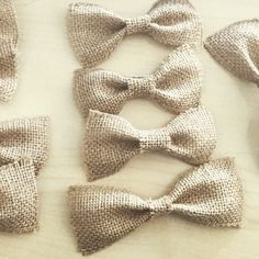Hessian bows for sale, diy, craft, wedding jute and burlap