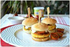 À table ! con Carmen: Mini Hamburguesas de Bacalao y Verduras con Mayonesa de Wasabi