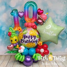 Birthday Balloon Decorations, Centerpiece Decorations, Birthday Balloons, Girl Birthday, Happy Birthday, Cool Paper Crafts, Epic Party, Luau, Sculptures
