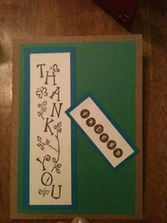 Another thank you card.