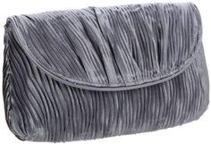 La Regale  Vertical Wave Pleated Soft Clutch 24191 Clutch $29.00