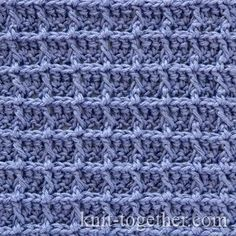 Crochet Waffle Stitch Pattern - photo, description and crochet chart. Relief…
