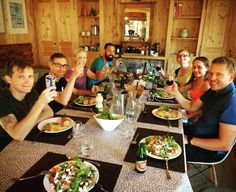 A well deserved meal after an incredible ride over #coldelacolombiere to #lakeannecy   in 35C heat well done guys - - - #mealtime #cyclingappetite #proud #greatride #hungry #delicious #yum #beerandwine
