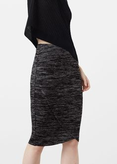 Falda lápiz elástica - Faldas de Mujer | MANGO España