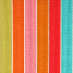 colourful Michael Miller stripe fabric by Patty Young