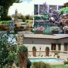 """See 31 photos and 15 tips from 4 visitors to Designer Gardens Landscaping. """"Anything you want in your garden they can do Landscaping, swimming pools,. Cool Plants, Great View, Palm Trees, Garden Landscaping, Outdoor Living, Garden Design, Swimming Pools, Mansions"""