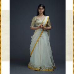 Lehenga Style, Lehenga Designs, Half Saree, Sari, Gowns, Photo And Video, Pretty, Skirts, Dresses