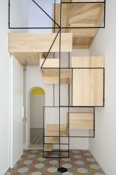 These days, a concrete staircase is really famous for a modern house. The design of staircase with its concrete material is simple and easy to make. It is another option for you who want to design you Interior Stairs, Interior Architecture, Interior And Exterior, Stairs Architecture, Spiral Staircase, Staircase Design, Staircase Ideas, Stair Design, Floating Staircase
