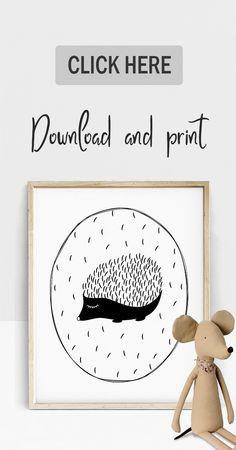 Cute Hedgehog Print