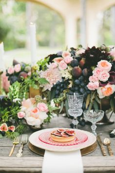 Fig colored and themed wedding inspiration shoot  | Onelove Photography | see more on:  http://burnettsboards.com/2014/03/fig-gold-wedding-coolest-bar/