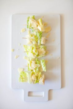 Caesar Salad on a Stick: http://www.stylemepretty.com/living/2015/05/21/26-foods-even-more-fun-on-a-stick/