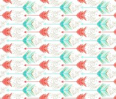 arrow watercolor fabric, wallpaper, gift wrap, and decals - Spoonflower