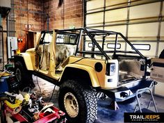 Ready for final welding.  #GenRight #Roll Cage #Jeep  Build your Jeep with Trail Jeeps - off-road modifications for Jeep JK Wranglers. -  www.trailjeeps.com