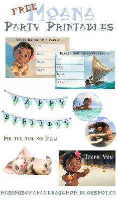 Parties need to be festive so I decided to create a Moana inspired banner I just used the Moana font on a tropical background from . Moana Party, Moana Themed Party, Moana Birthday Party, Luau Birthday, 6th Birthday Parties, Birthday Ideas, Hawaian Party, Party Printables, Moana Printables