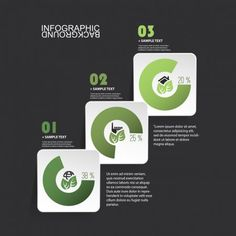 Minimal Paper Cut Infographics Design - White Round Squares On Black Background With Eco Icons Image Infographics, Infographics Design, Free Vector Images, Vector Free, Flow Chart Template, Vector Format, User Interface, Paper Cutting, Black Backgrounds