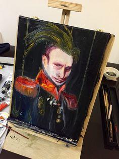 Punk Putin - olio 30x40 Punk, Painting, Art, Painting Art, Paintings, Punk Rock, Painted Canvas, Drawings
