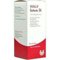 SOLUM ÖL:   Packungsinhalt: 100 ml Öl PZN: 01448493 Hersteller: WALA Heilmittel GmbH Preis: 8,54 EUR inkl. 19 % MwSt. zzgl. Versandkosten…