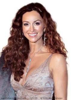 Sofia Milos in Long Auburn Naturally Curly Gorgeous Hairstyle - Beautiful Hairstyles