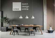 Design table à manger Spring l Kees Marcelis l Odesi. Your Dutch Design. Law Office Design, Office Interior Design, Office Interiors, Modern Office Decor, Contemporary Office, Contemporary Interior, Design Tisch, Table Design, Condo Living Room