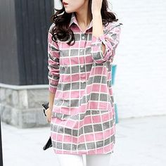 Buy 'Romantica – Long-Sleeve Check Shirt' with Free International Shipping at YesStyle.com. Browse and shop for thousands of Asian fashion items from China and more!