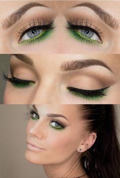 Something so cool and beautiful about this green underliner/shadow! Even a toned down version of this would be perfect for Spring/Summer!