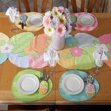 Easter Table Runner Placemats And