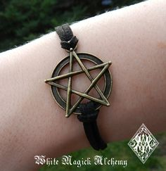 White Magick Alchemy - Pentacle Bracelet in Bronze, $9.95 (http://www.whitemagickalchemy.com/pentacle-bracelet-in-bronze/)