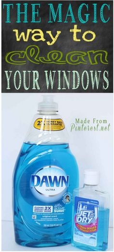 Magic Way To Clean Your Windows - This method will save you hours of cleaning and leave your windows with no spots or streaks!