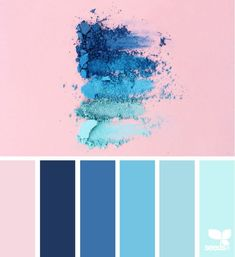 Color Crush - I love the way the blues are like an ombre effect and the uneven edges around the powder