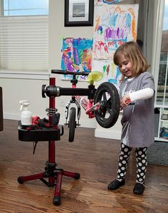 Never to early for kids to learn about bicycle repair.