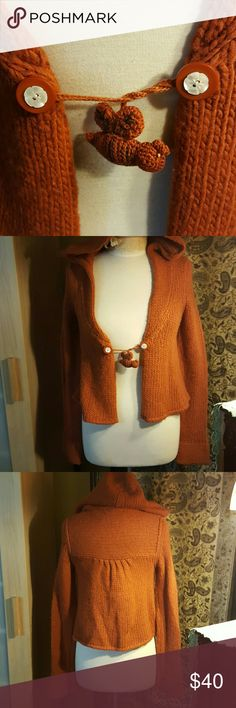 ANTHROPOLOGIE CARDIGAN 4 Anthropologie Cardigan Sweater  Burnt Orange anthropologie  Sweaters Cardigans