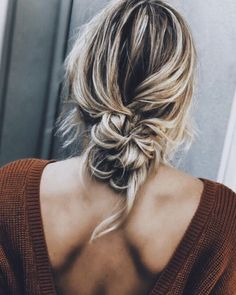 low knotted pony | hair