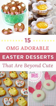 You are going to have a blast making these freakin' adorable Easter desserts that are guaranteed to be a crowd pleaser. After all, who could pass up these super sweet Easter Desserts?