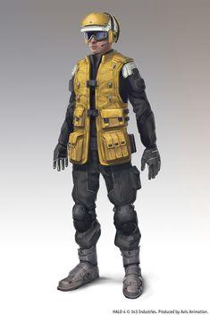 Halo 4 Spartan Ops / hangar crew by maykrender
